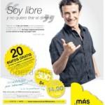 20 euros de saldo gratis al portarse a MÁSmovil