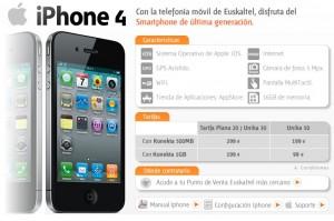 iPhone4 de Euskaltel