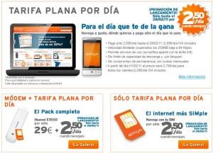 Internet móvil tarifa plana de Simyo: Nueva tarifa diaria