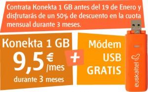 Konekta 1 GB al 50% durante 3 meses