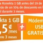 Konekta 1 GB de Euskaltel al 50% durante 3 meses