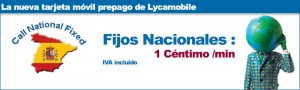 Llamadas nacionales Lycamobile a 1 céntimo