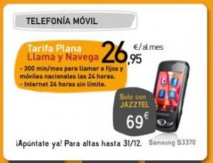 Nueva tarifa plana Navega y llama de Jazztel Móvil