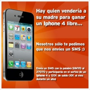 Simyo iPhone 4 libre gratis