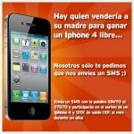 Simyo sortea un iPhone 4 mandando SMS Premium