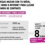 Bono 8 internet para llevar de Yoigo gratis 3 meses