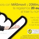 Promoción MÁSmovil: 20 euros de saldo gratis al hacer la portabilidad