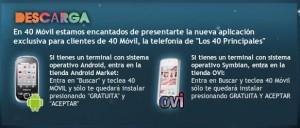 40 móvil aplicación