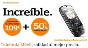 50 euros en llamadas gratis Huawei u8810