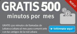 500 minutos gratis de llamadas entre Lebaras