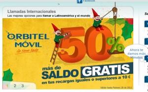 Orbitel Móvil recarga gratis saldo