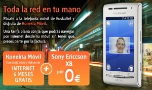 Promoción Sony Ericsson X8 de Euskaltel