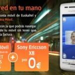 Sony Ericsson X8 y 6 meses de internet móvil gratis con Euskaltel