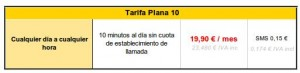 Tarifa plana 10 de RACC Móvil