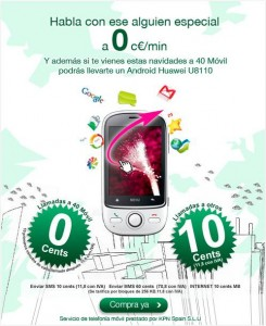 Sorteo Huawei Android U8110