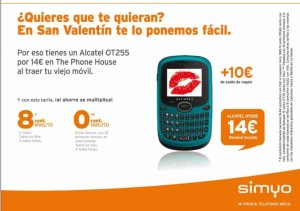 Alcatel OT 255 con Simyo y The Phone House