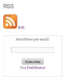 Suscripción RSS a OMV