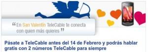 Promoción San Valentín de TeleCable