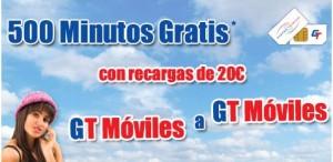500 minutos gratis con GT Mobile