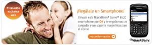 BlackBerry, cargador y soporte magnético gratis