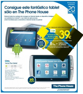 Tablet Android con Yoigo y The Phone House
