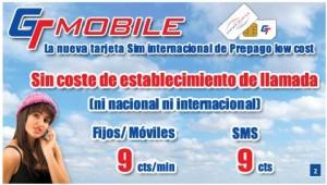 GT Mobile, 9 céntimos/minuto sin establecimiento de llamada