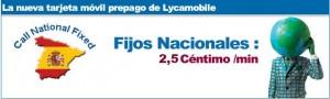 Llamadas de Lycamobile a fijos españoles a 2.5 céntimos/minuto