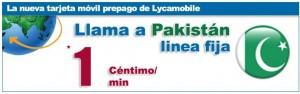 Llamadas a fijos de Pakistan a 1 céntimo (Lycamobile)