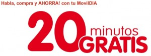20 minutos gratis con MovilDia
