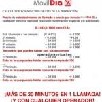 Llamadas gratis con MovilDia en tus compras en Dia