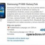 Carrefour Móvil también se apunta a las rebajas para el Samsung Galaxy Tab