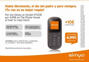Alcatel OT208 con Simyo y The Phone House