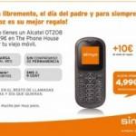 Alcatel OT208 por 4.99 euros con 10 euros de saldo
