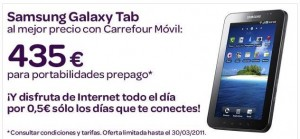 Tablets de Carrefour Móvil