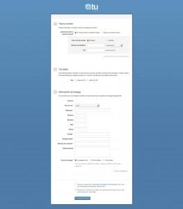 Formulario de registro de Tu