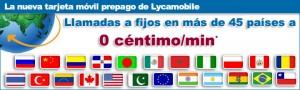 Llamadas internacionales gratis con Lycamobile