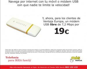 Módem USB libre MÁSmovil Ikea