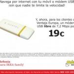Módem USB libre por 19 euros con IKEA y MÁSmovil