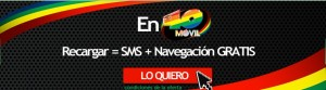 Navegación y SMS gratis al recargar 40 móvil