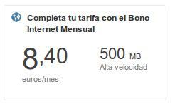 Bono de internet móvil de Tu