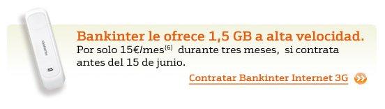 Oferta internet móvil de Bankinter