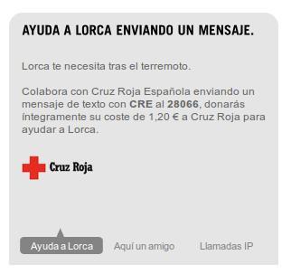 Yoigo ayuda a Lorca, terremoto