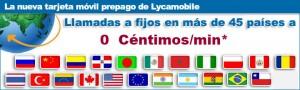 45 destinos de llamadas internacionales a 0 céntimos/minuto