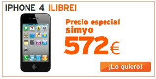 iPhone 4 de Simyo libre