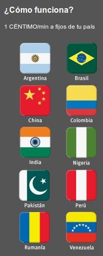 Llamadas a 1 céntimo de fijos internacionales