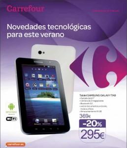 Samsung Galaxy Tab de 7 pulgadas barato libre con Carrefour Móvil
