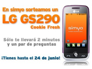 Sorteo Simyo LG GS290 Cookie Fresh