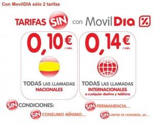 Tarifas promocionales de MovilDIA