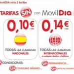 Tarifas promocionales más simples de MovilDIA
