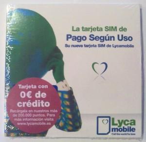 Tarjeta SIM Lycamobile España